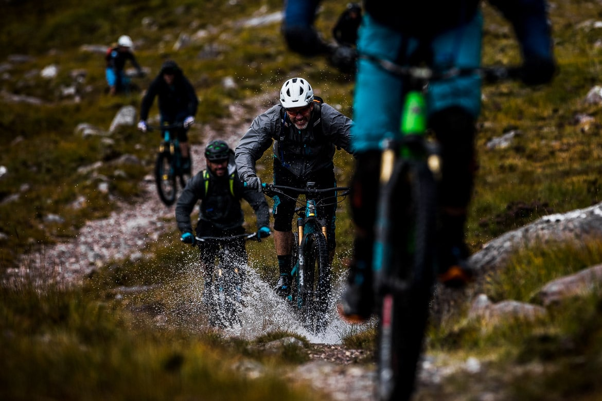 Chris Conroy on the chase during the Yeti Tribe Scotland.