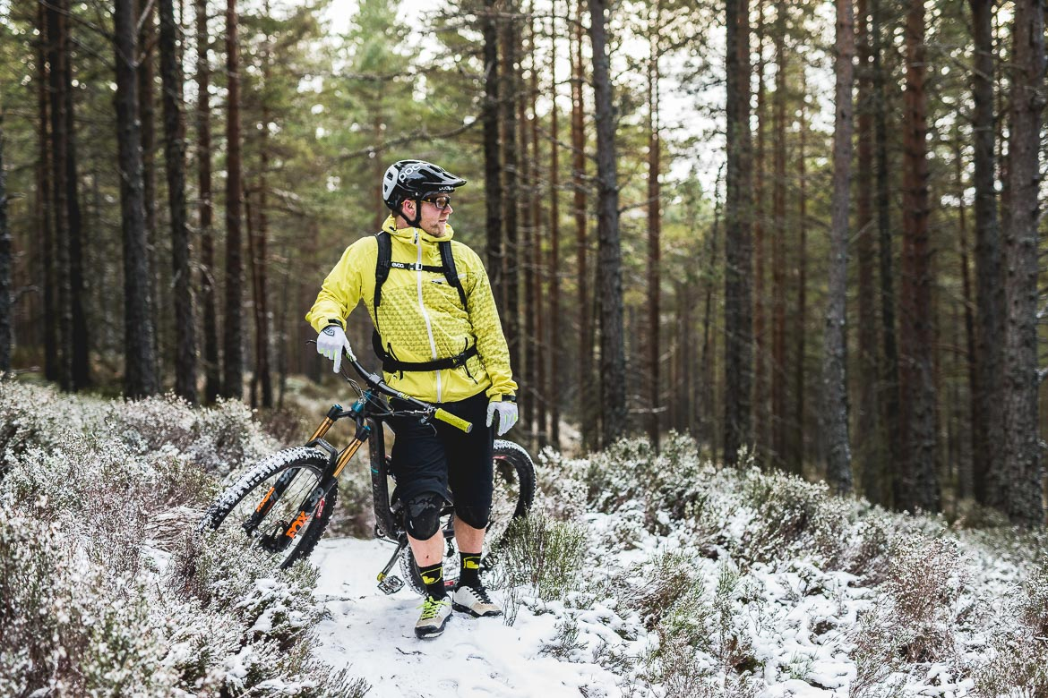 Local Aviemore mountain bike guide Chris Gibbs in his natural environment.