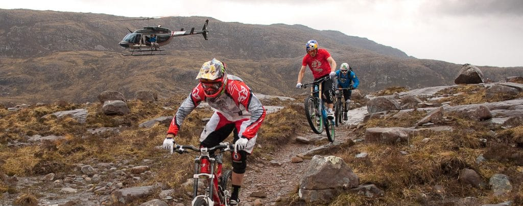 Heli-Biking with Danny MacAskill, Steve Peat, Hans Rey in the Torridon mountains and Isle of Skye