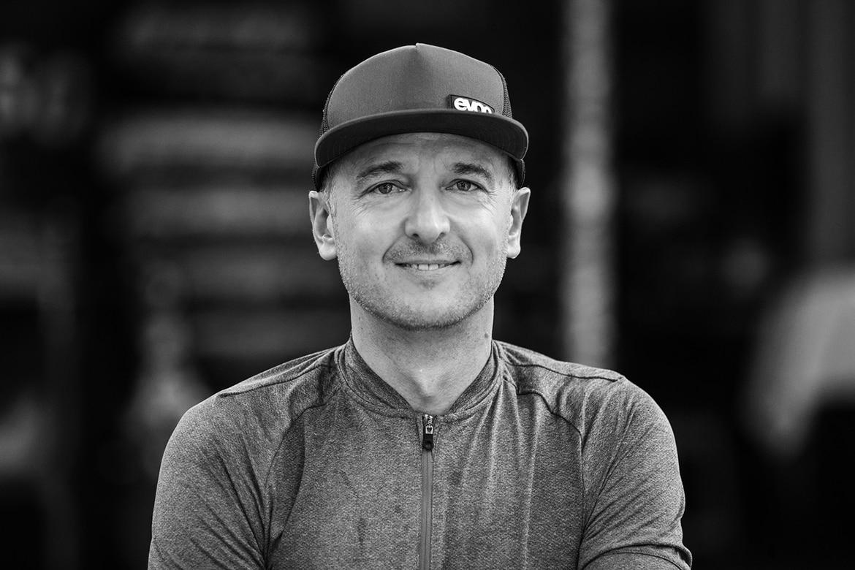 Portrait of Holger Feist, the EVOC founder.