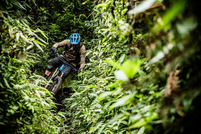 Jungle singletrack on our mountain bike tour Ecuador