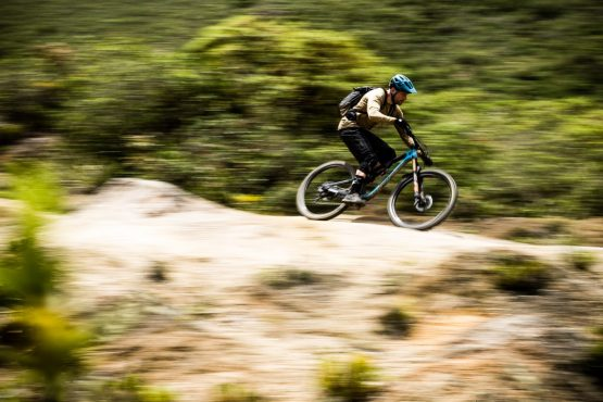 Fast desert trails on our mountain bike tour Ecuador