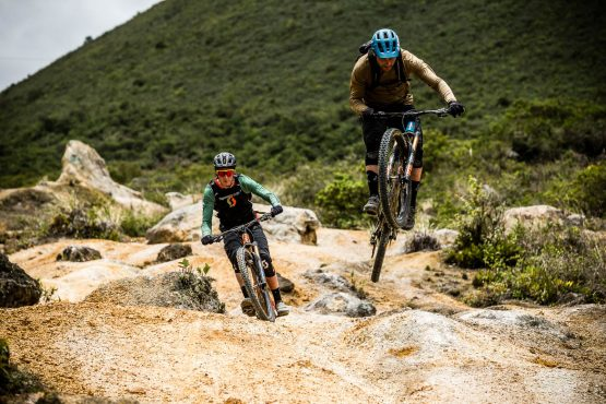 Rocky trails on our MTB tour Ecuador