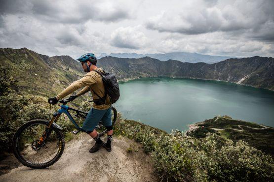 MTB tour Ecuador - resting at Quilotoa
