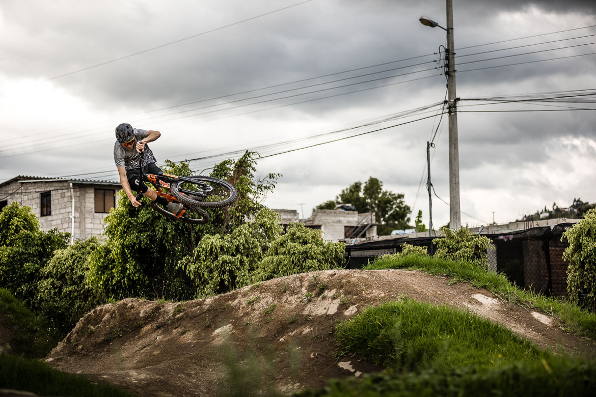 Scotty Laughland on the pump track of our local mountain bike guide Ecuador