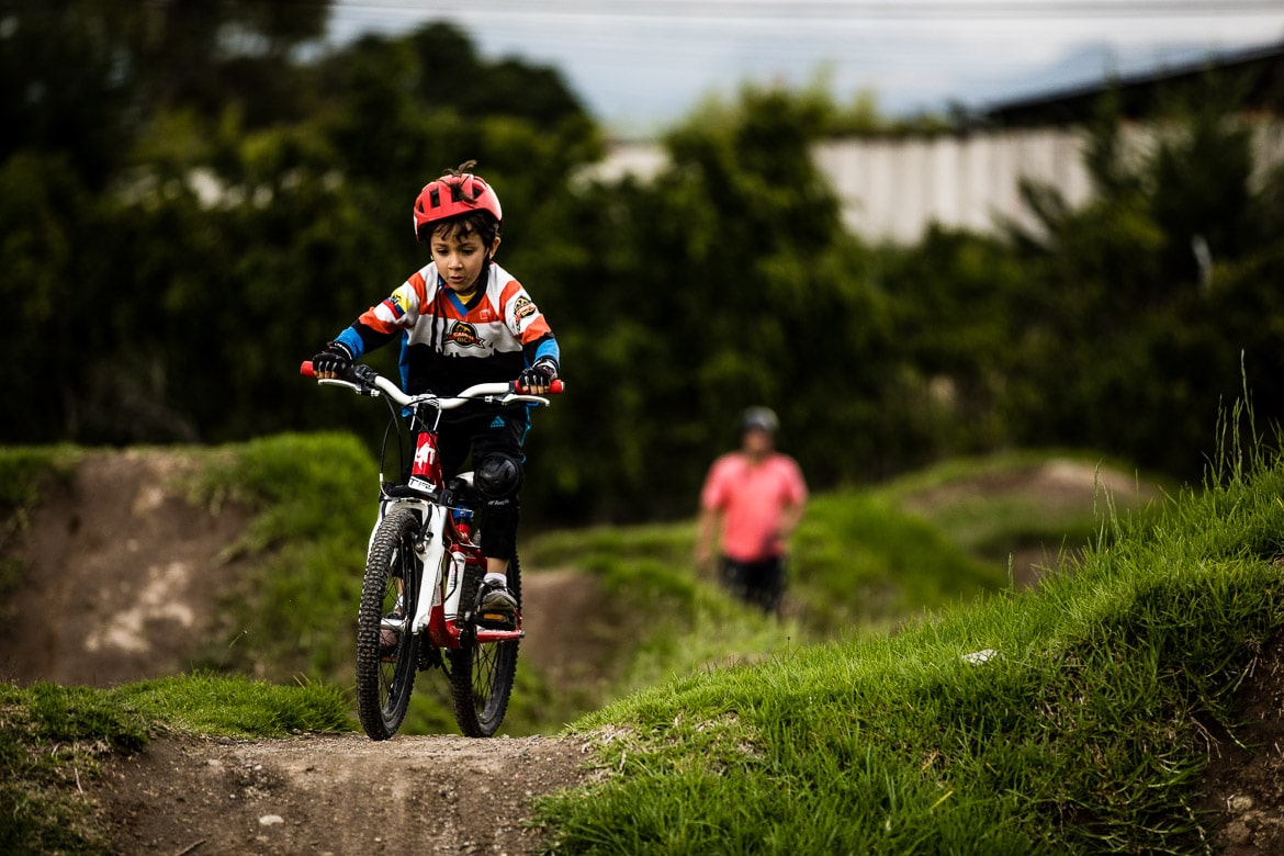 Our local mountain bike guide Ecuador also has a pump track where coaching sessions with kids are helping the local community.