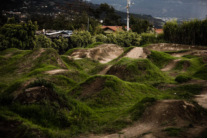 Our local mountain bike guide Ecuador José Jijon has a pump track in his back garden.