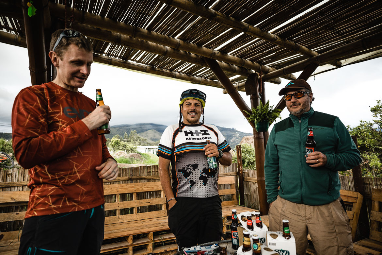 Beers at the pump track of our local mountain bike guide Ecuador José Jijon.