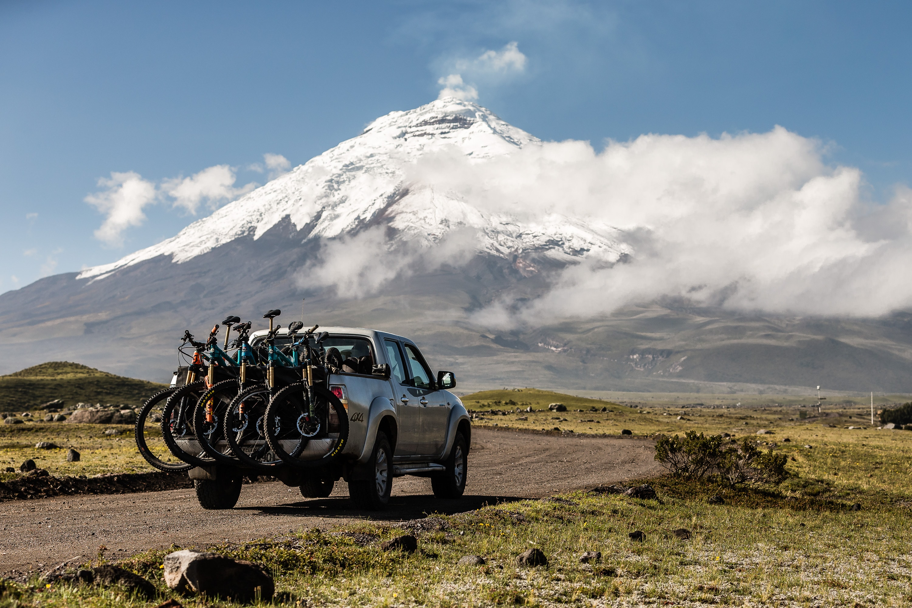 Heading towards the volcano - Ecuador MTB Film