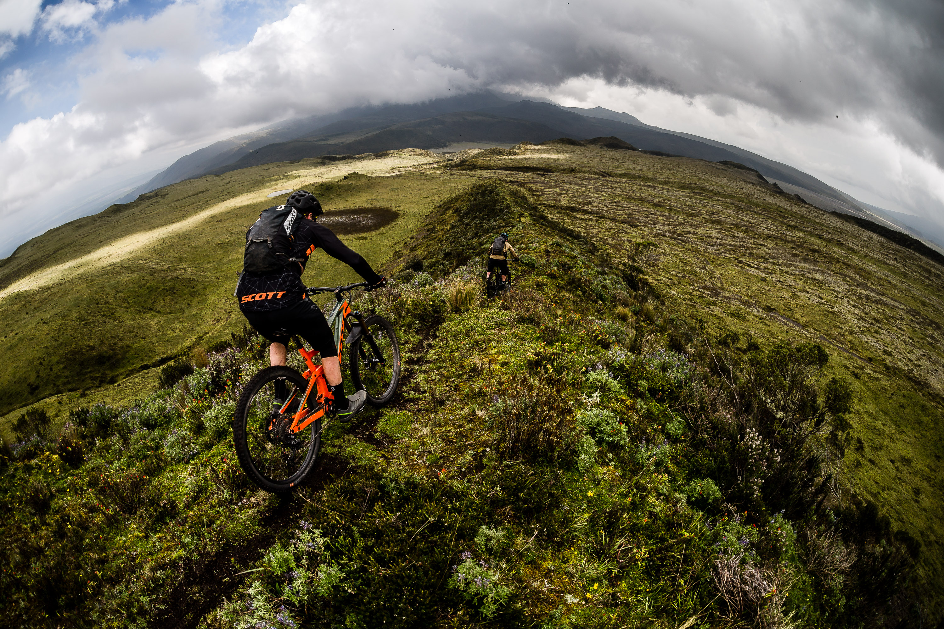 Heaven's ridge delivering the goods on our Ecuador MTB Film