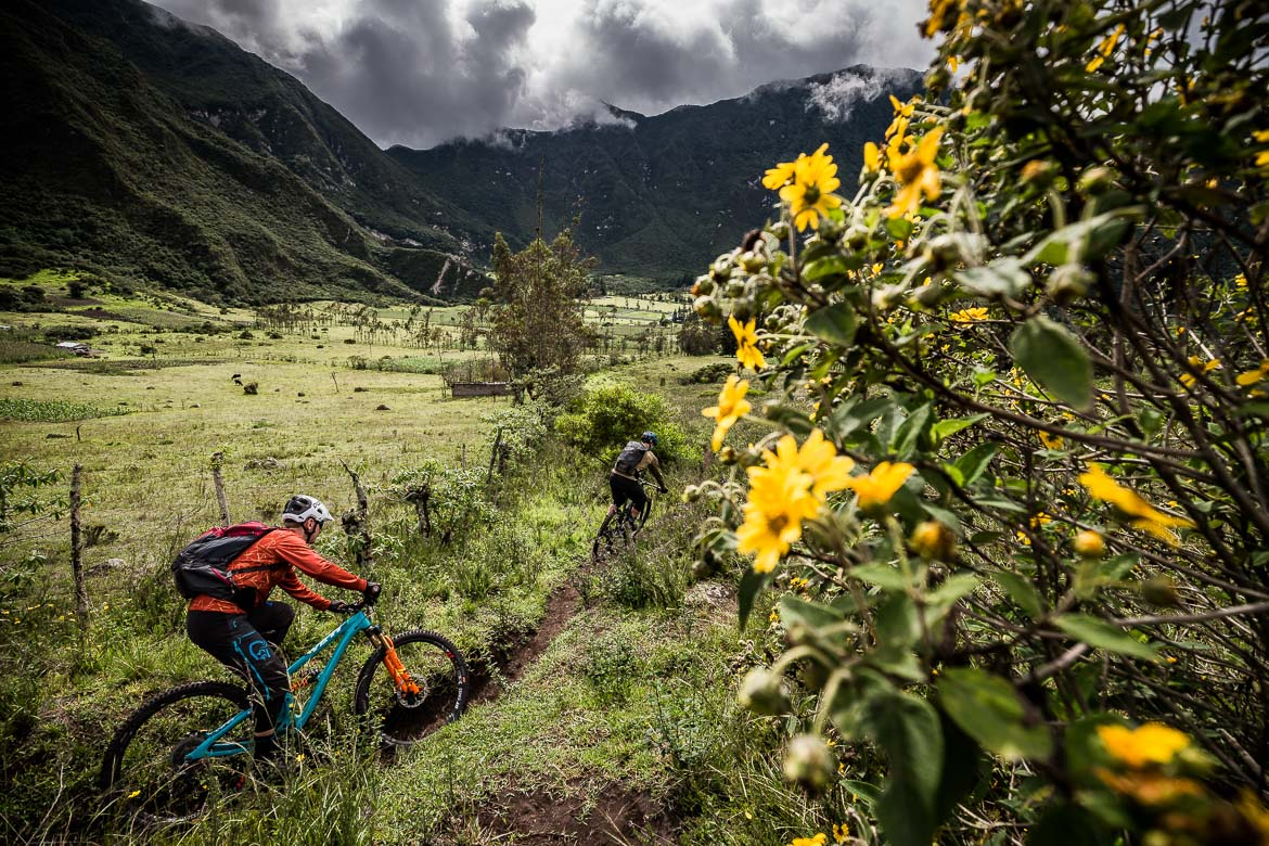 Jungle singletrack on our mountain biking Ecuador holiday