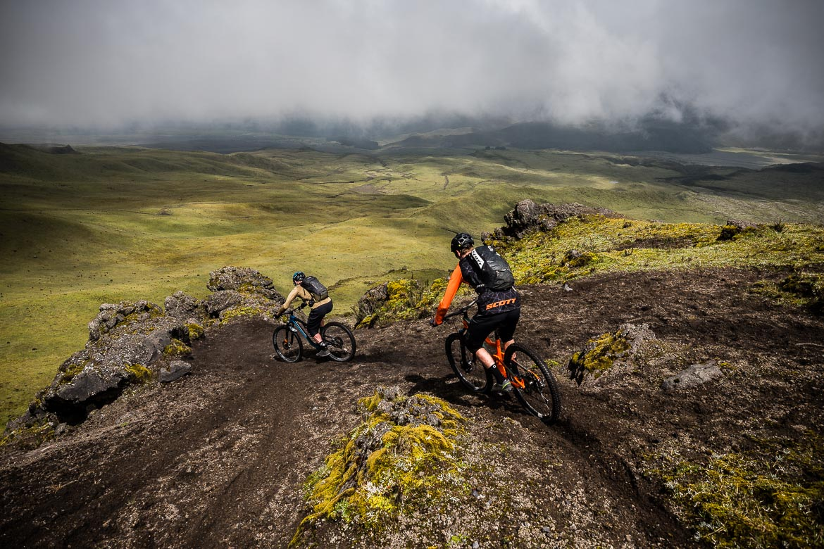 Volcanic trails on our Mountain biking Ecuador trip