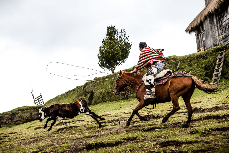 Experiencing the chagra life on our Mountain biking Ecuador tour