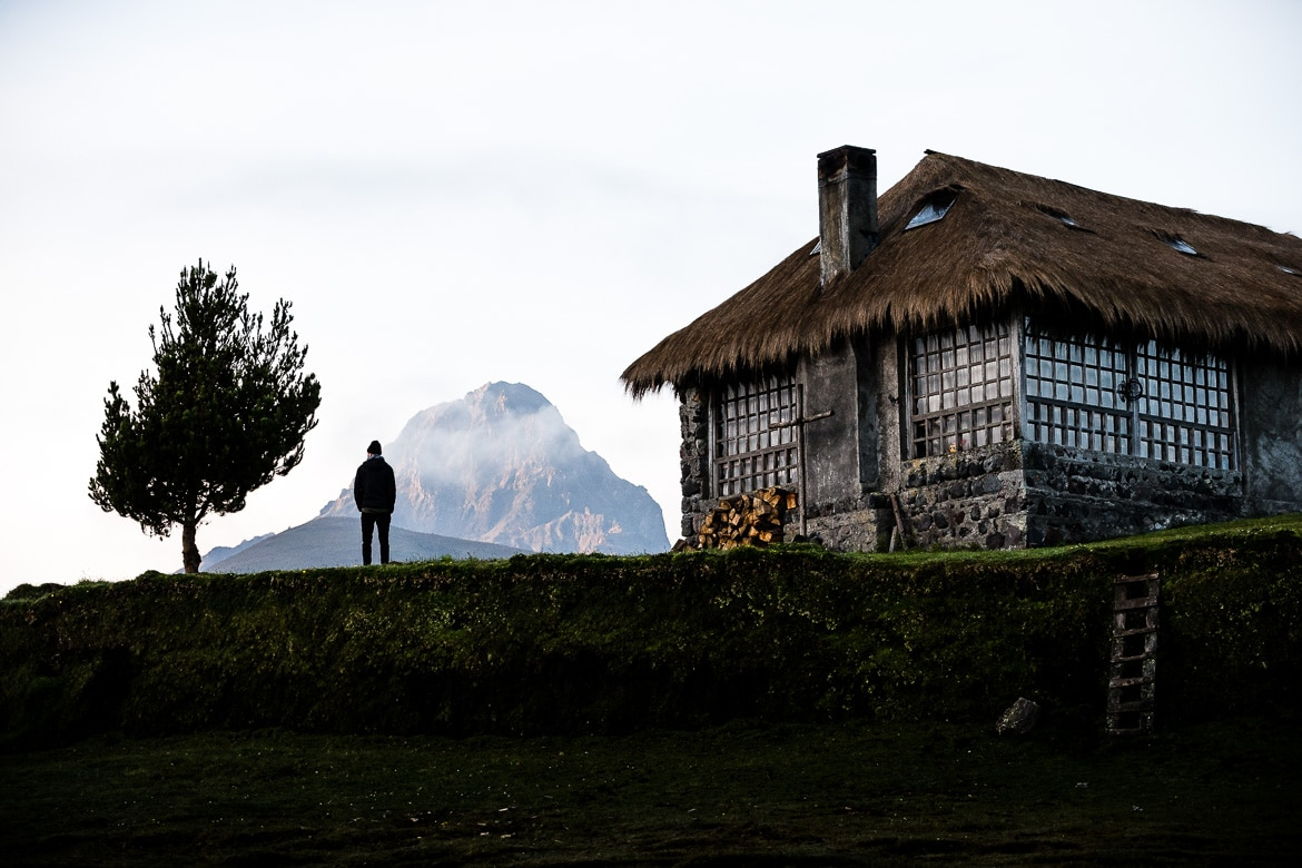 Quiet hacienda living on our Mountain biking Ecuador trip