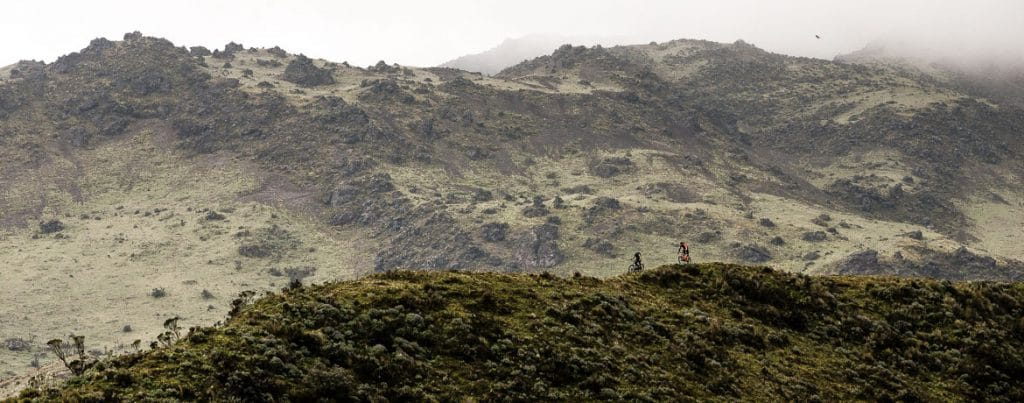 Heavens ridge singletrack on our mountain biking Ecuador adventure