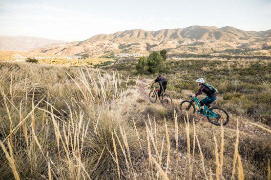 Chasing the evening light Mountain bike tour Spain