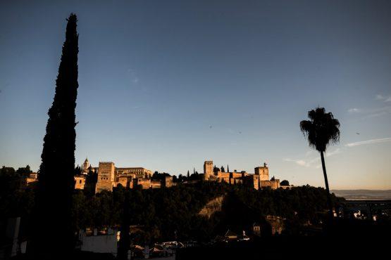 Sunset over the Alhambra - Mountain bike tour Spain