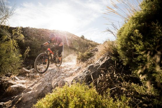 The rocky trails of a Mountain bike tour Spain
