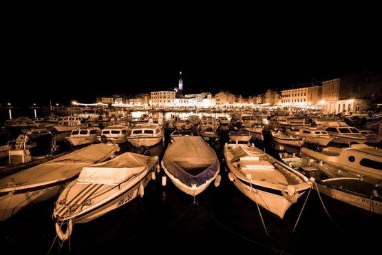 E-MTB tour of Croatia harbour night life