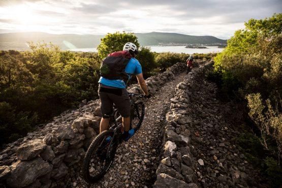 Dusk riding E-MTB tour of Croatia
