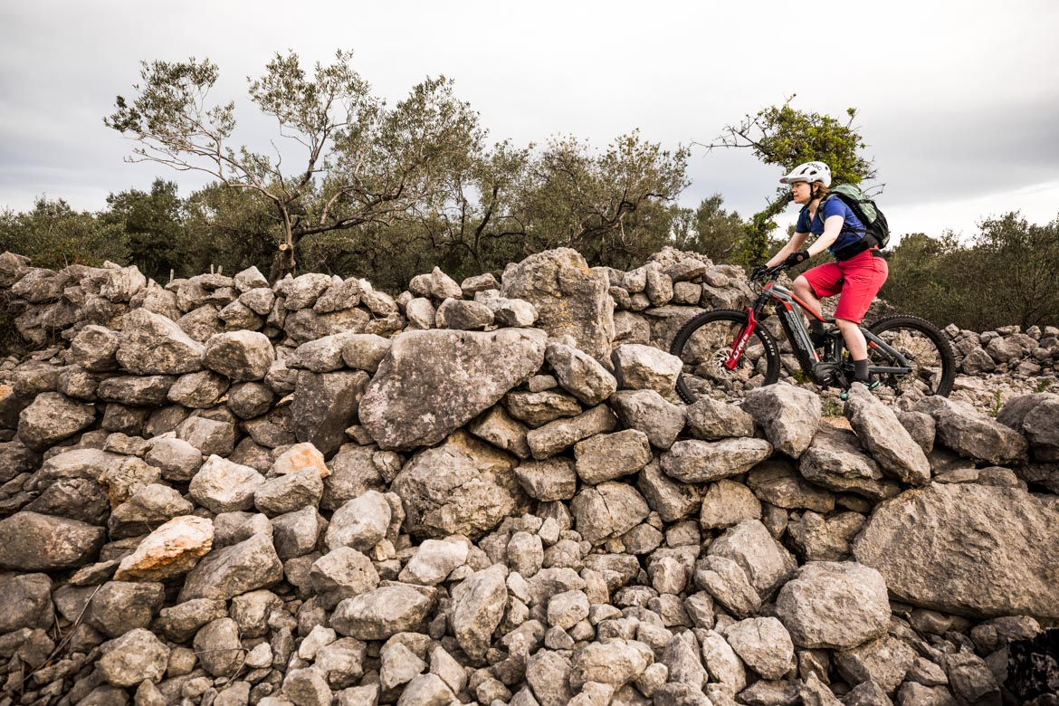 Rocky Krk island trails on a E-MTB Tour Croatia