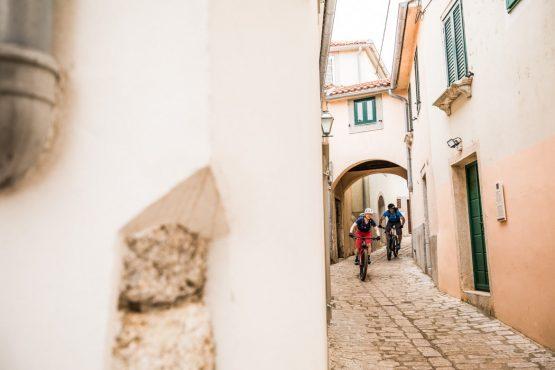 Local life on our E-MTB tour of Croatia