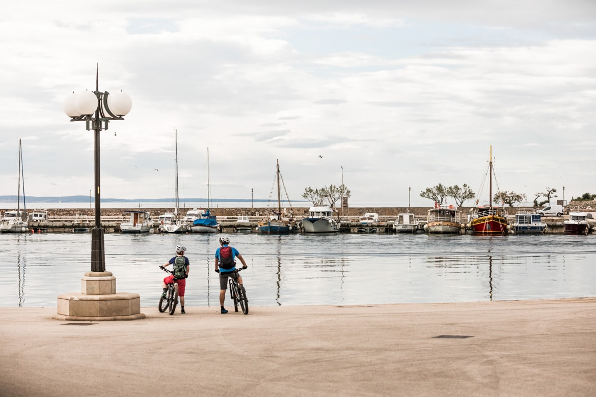 E-MTB tour of Croatia harbour views