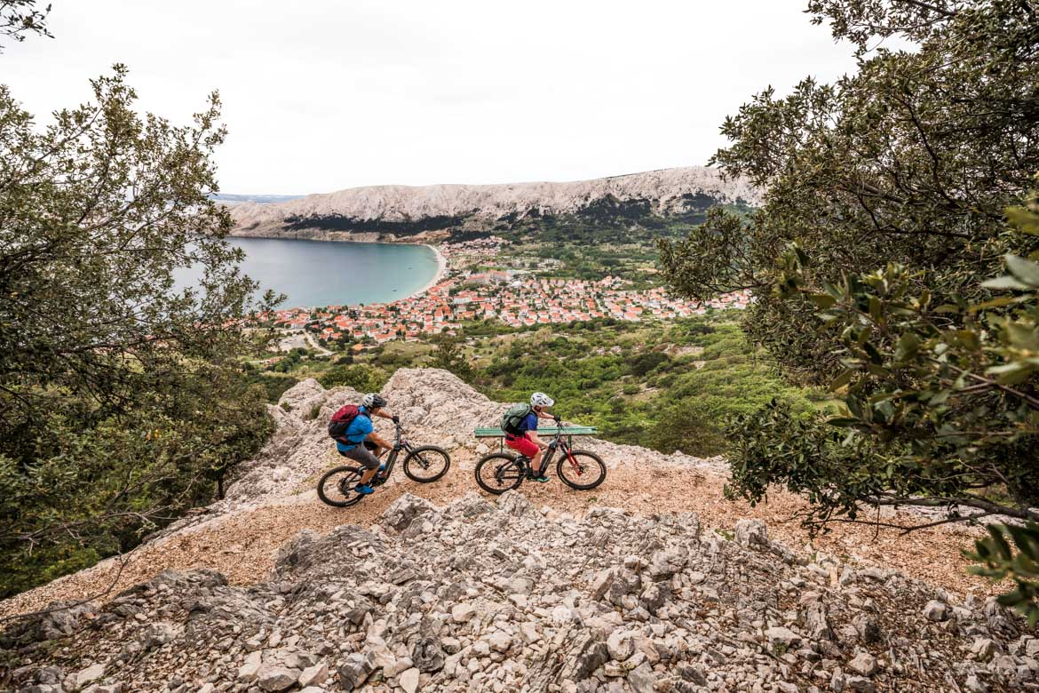 E-MTB tour of Croatia pedal-assisted climbs