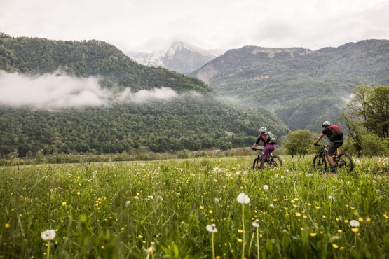 E-MTB tour of Slovenia mountain meadows