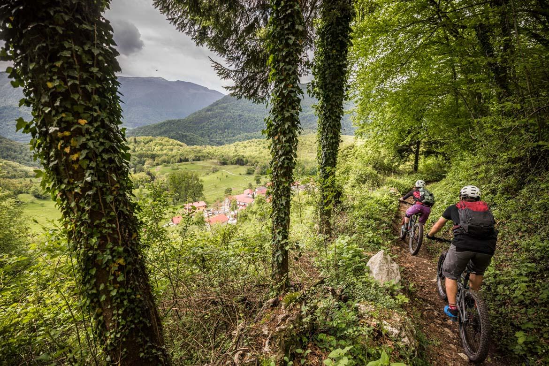 E-MTB tour of Slovenia flowing descents