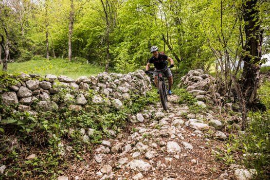 Limestone trails on the E-MTB vacation in Slovenia