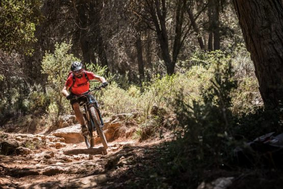 E-MTB tour of Spain rocky trails
