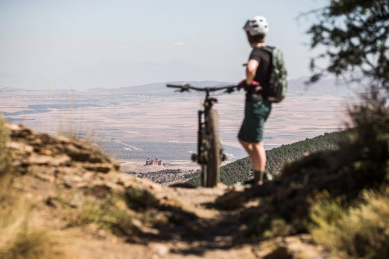 High trail vantage point E-MTB tour of Spain