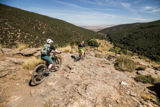 E-MTB tour of Spain rocky slabs