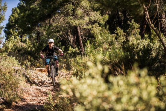 E-MTB tour of Spain single track descending