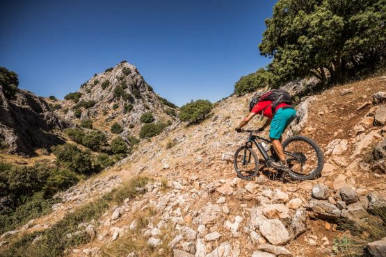 E-MTB tour of Spain through rough, rocky trails