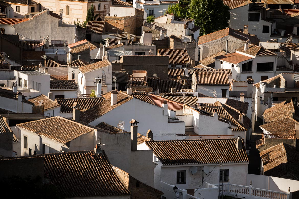 Quaint villages in the Sierra Nevada as seen onE-MTB Tour Spain