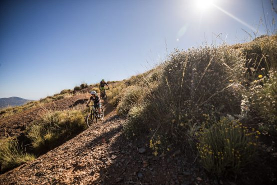 E-MTB tour of Spain bluebird singletrack trails