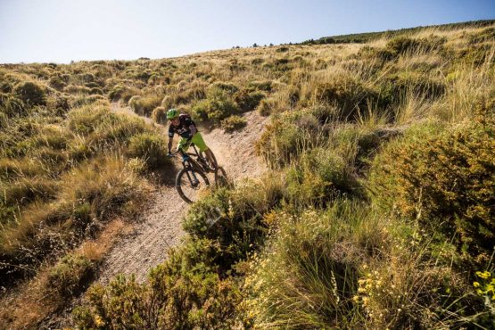 E-MTB tour of Spain singletrack turns and clouds of dust