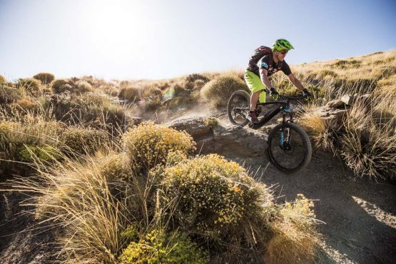 E-MTB tour of Spain singletrack drops