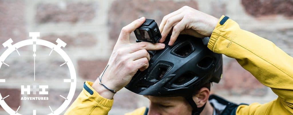 Mounting to the helmet in this MTBminute Scotty Laughland's GoPro quick tips
