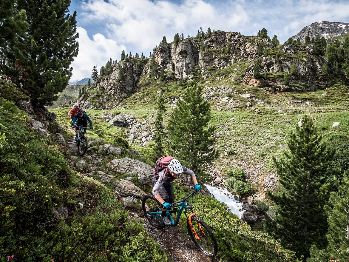 Technical Swiss singletrack as part of a H+I Adventures favourite mountain bike moments in 2019.