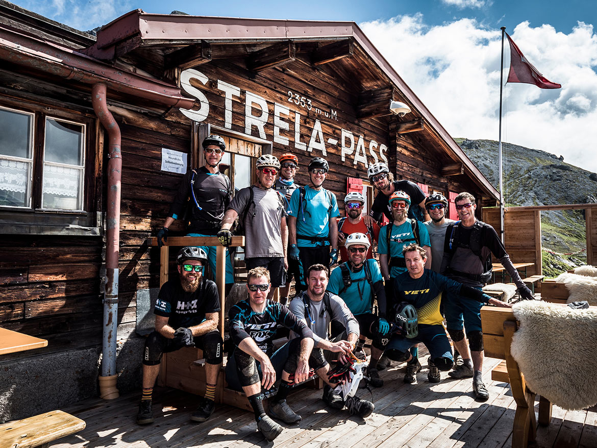 The International Yeti Tribe Gathering in Switzerland as part of H+I Adventures favourite mountain bike moments in 2019.