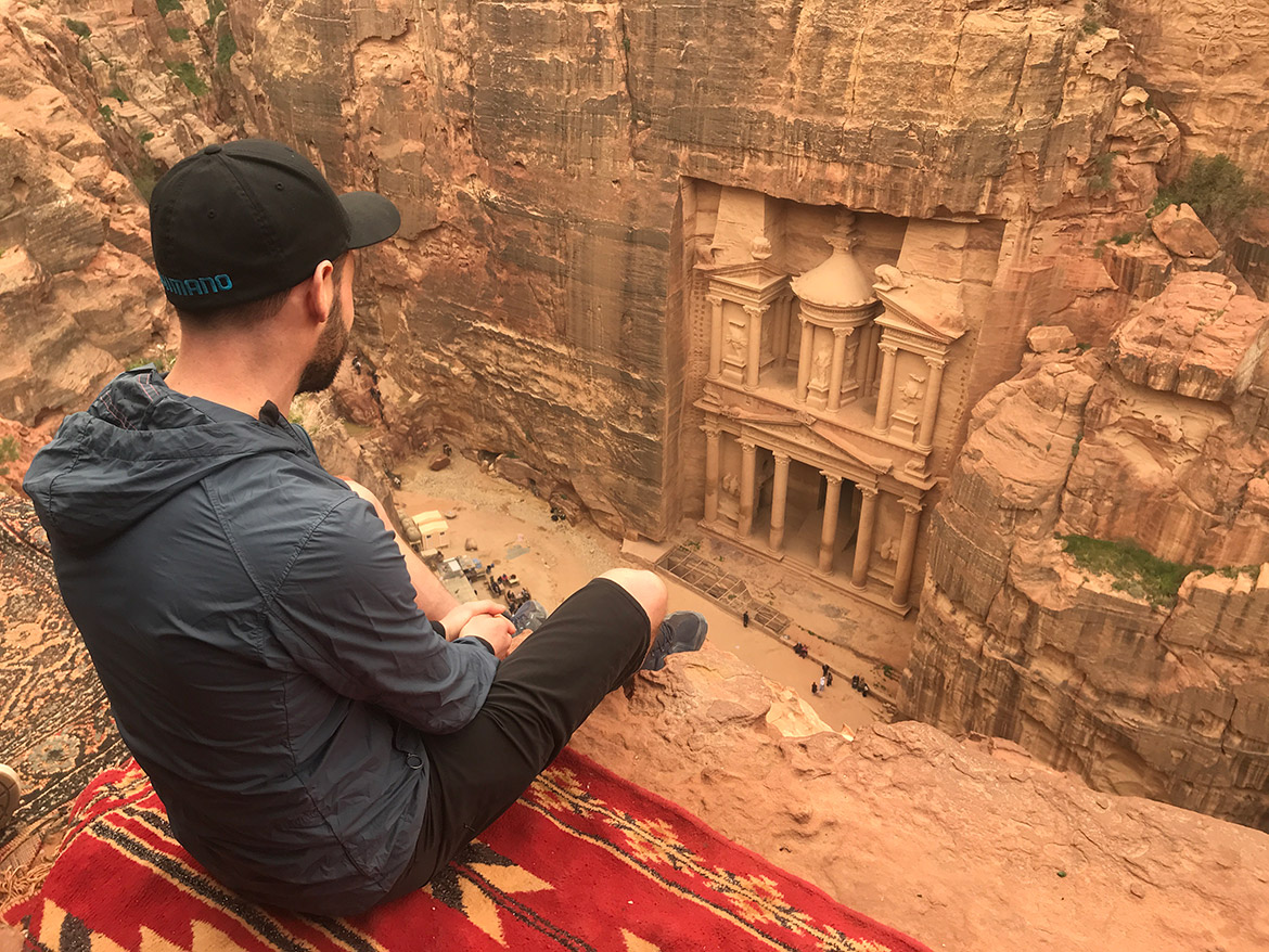 Donald takes in the culture of Jordan during a H+I Adventures favourite mountain bike moments in 2019.