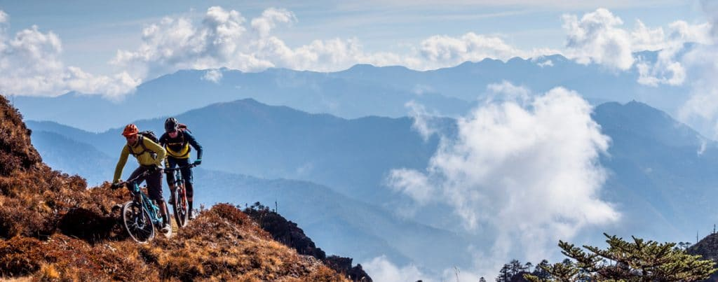 Header image for exploring Bhutan by mountain bike
