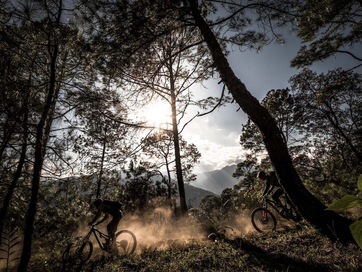 Dusty descents whilst mountain biking in Bhutan