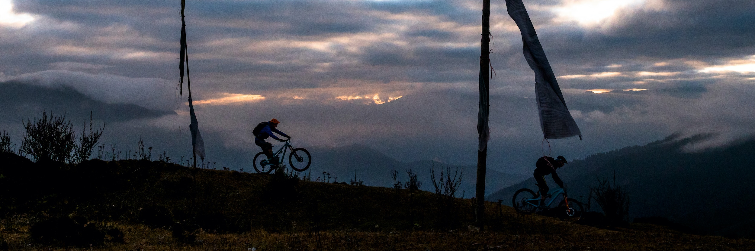Mountain bike tours, riders in Bhutan