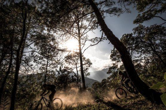 Mountain bike tour Bhutan dusty trails