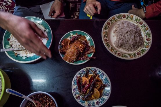 Mountain bike tour Bhutan traditional cuisine