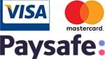 PaySafe, Visa, MasterCard logo